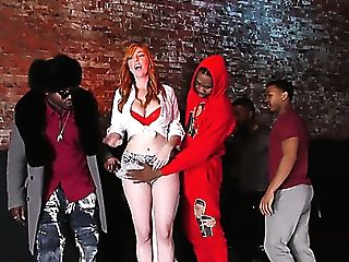 Thick Jugged Ginger Bar Woman Lauren Phillips Gets Hammered By Big Black Cock Owners