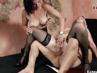 Two Smoking Hot Bitches And A Married Man With A Hard- On Are Having A Threesome