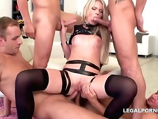 Blonde Obedient Euro Petslut Treated Like A Whore