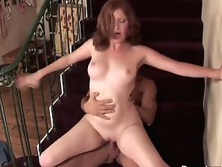 Spunky Cougar Ginger Blaze Banged In Vulva