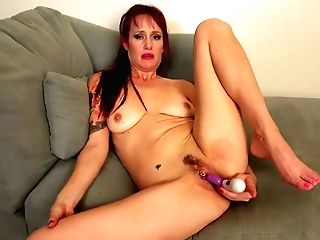 Crimson Haired Housewife Heather Is Playing Her Pierced Opened Up Twat