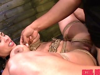Mouth Watering Mummy Becca Diamond Is Penalized With Crazy Hitachi