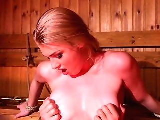Puny Titted Blonde Honey, Lucy Heart Likes To Have Steamy Intercourse With David Perry, In The Sauna
