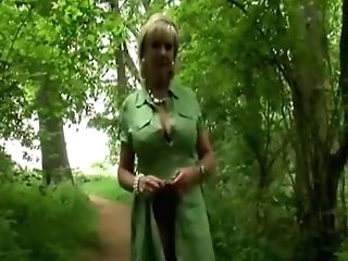 Brit Mummy Takes A Walk In The Forest