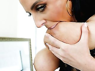 Wondrous Dark Haired Sexpot Angela Milky Lets Dude Fuck Her Pink Hole Hard