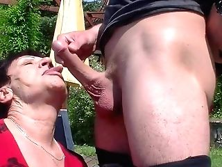 Granny Loves His Youthful And Hard Dick