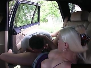 Euro Cab Driver Gets Piercedpussy Fucked