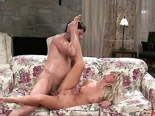 Blondie Housewife Is Making Love With One Magnificent Youthful Neighbor