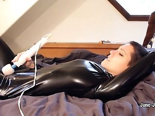 Jane Jupiter - Paint It Black- Spandex Getting Off