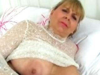 """english Cougar Alexa Looks Delicious In See-thru Clothing"""