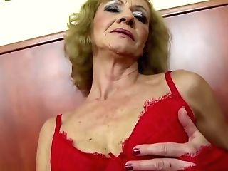 Granny Hairy Fuckbox Getting Analed By Big Black Fuck-stick
