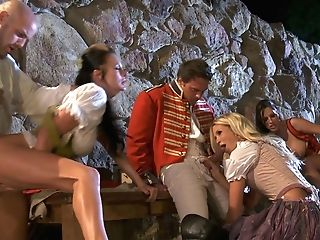 Horny Jessica Drake, Alektra Blue And Kortney Kane Fucking In A Costumed Scene