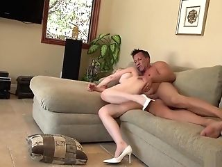 Blonde Buxomy Cougar Dainy Marga Chatted A Marvelous Neighbor Marco Banderas Into Drilling Her Cunt On The Couch 720p