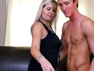 Canadian Stepmom Velvet Skye Fucks Her Stepson And Gets Her Boobies Jizzed