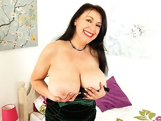 English And Big Titted Mummy Sabrina Needs A Faux-cock Fucking